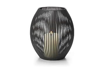 PHILIPPI Windlicht LOUISIANA Eisen pulverbeschichtet 27 cm hoch