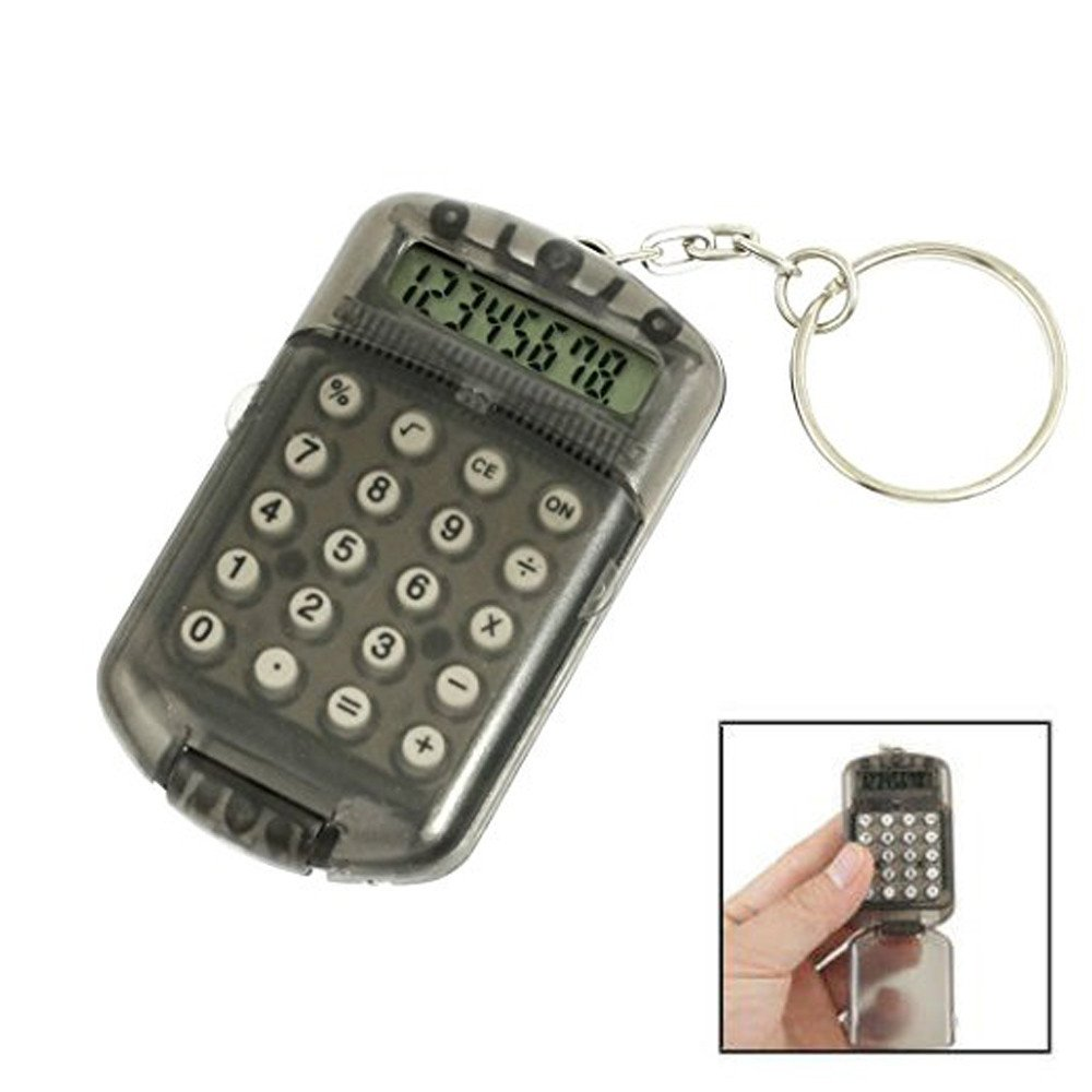 Mini Electronic Calculator 8 Digits Plastic Casing Keychain Calculator Pocket Key Ring for School Office Arithmetic Tools (Random) by paway (Image #4)