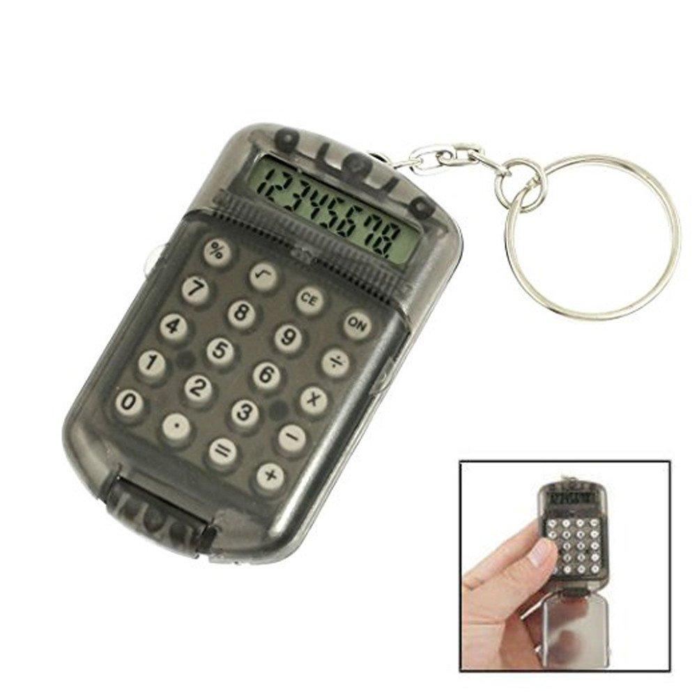 Calculator Pocket 8 Digits LCD Display Mini Plastic Calculator keychain for Kids School Home Office (Random) by Codiak-School (Image #3)