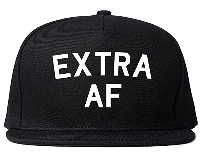 58846dce196 Amazon.com  FASHIONISGREAT Extra AF Funny Snapback Hat Black  Clothing