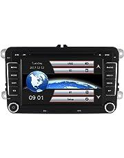 x-yingly 7Inch 2DIN en Dash Car Stereo con navegación GPS Wince Sistema Reproductor de DVD FM Am Radio Bluetooth USB SD Apoyo Parking Sensor Control de Volante 1080P vídeo con 8GB Tarjeta de Mapa