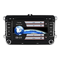 Yingly 7 Zoll 2 Din Auto Stereo für VW Golf Skoda Seat mit Wince System DVD Player GPS Navigation FM AM Radio Bluetooth USB SD unterstützt Park Kamera Lenkrad Bedienung 1080P Video 8GB Kartenmaterial