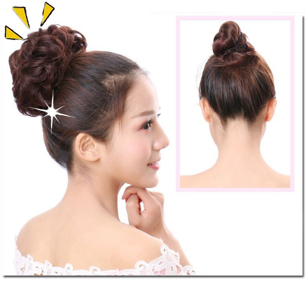 Lovely Scrunchie Updos Synthetic Hairpiece Curly Messy Bun Hair