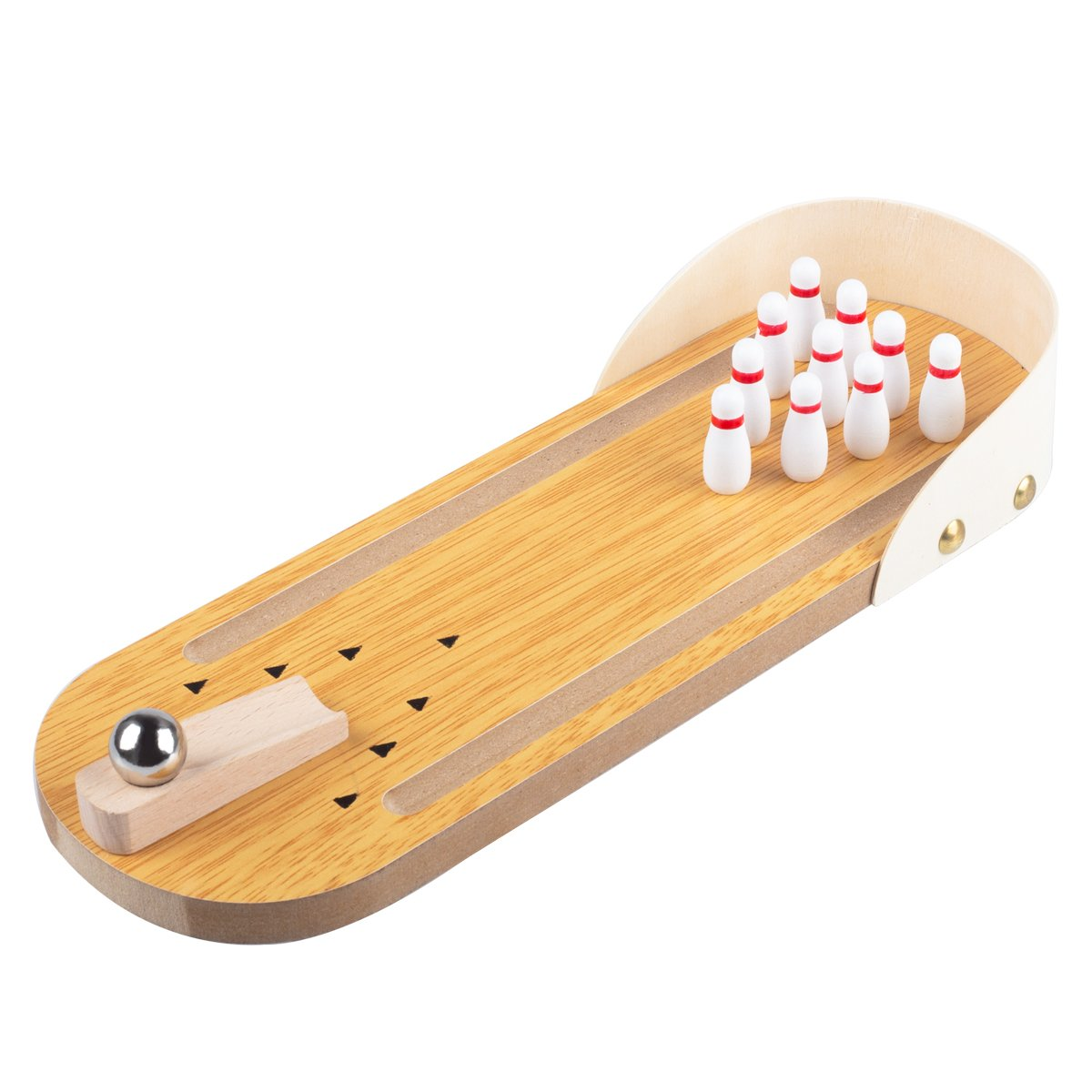 Mini Bowling Game Set, Agomo Mini Wooden Desktop Bowling Game for Kids and Adults, Easy to Assemble and Play, for Gift
