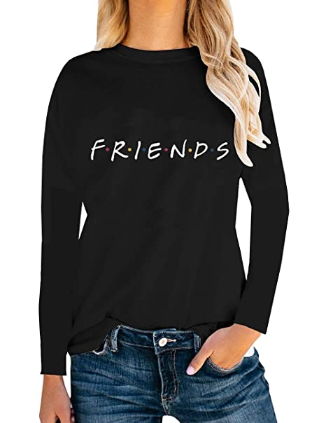 94f7cebcf898 Amazon.com  AEURPLT Womens Friends TV Show T Shirts Summer Short Sleeve Graphic  Tees Tops  Clothing