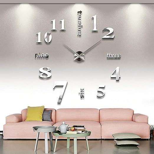Asvert XXL 3D DIY moderne Wanduhr große Wanduhr geeignet für Wohnzimmer  Schlafzimmer Kinderzimmer Geschenk Home Decor kreativ Wandtattoo Wanduhr  DIY ...