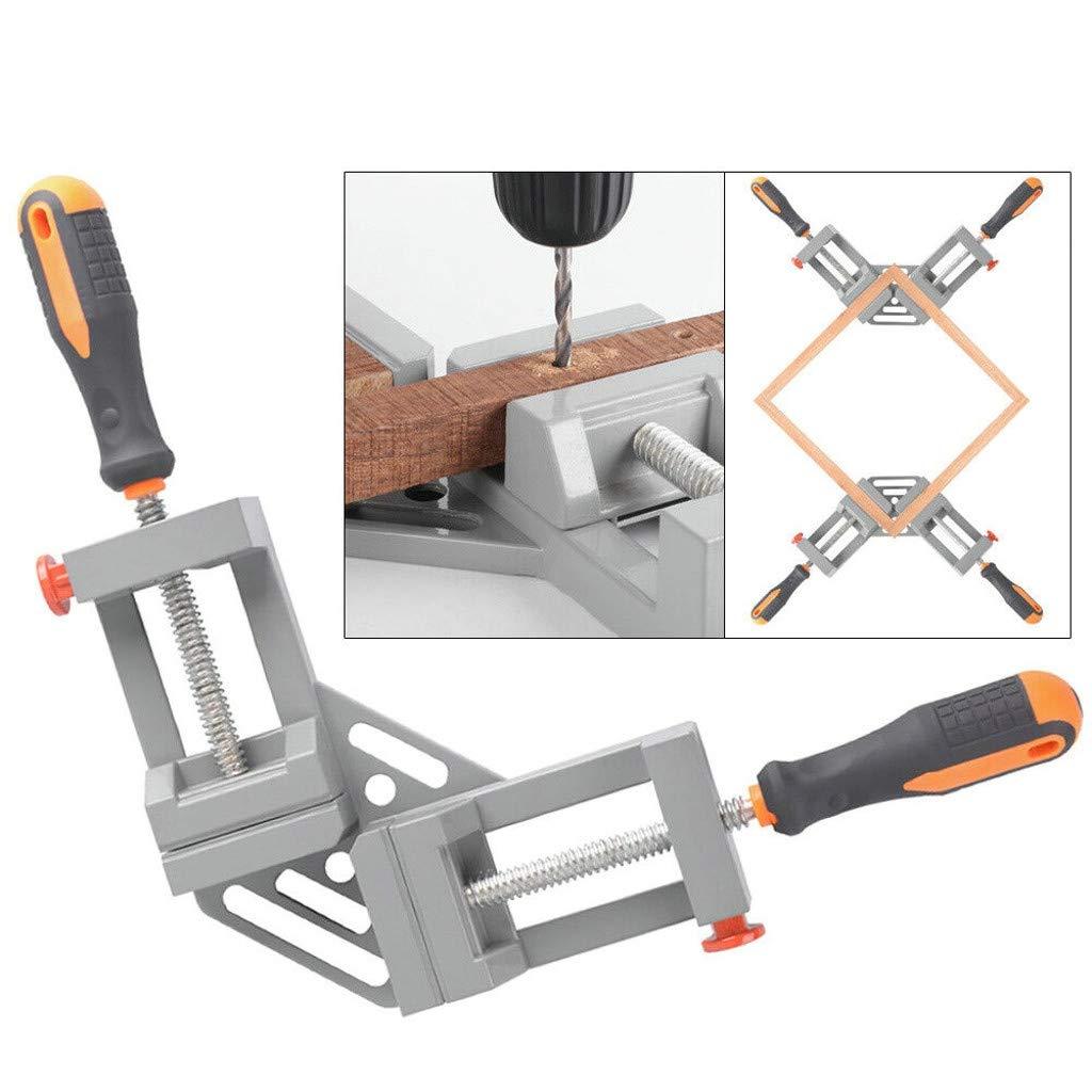 Gray Exlover Double Handle Corner Clamp 90/°Degree Quick Release Corner Clamp for Welding Wood-working Wood Metal Welding