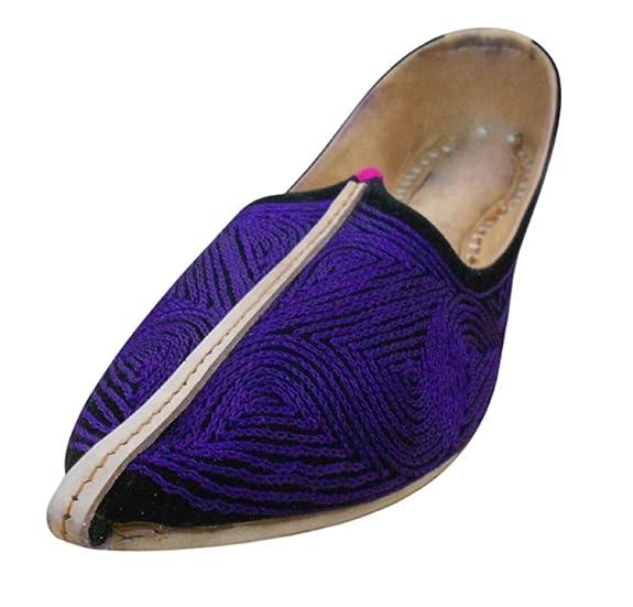 Kalra Creations - Zapatillas de estar por casa para hombre, color Morado, talla 42.5 EU