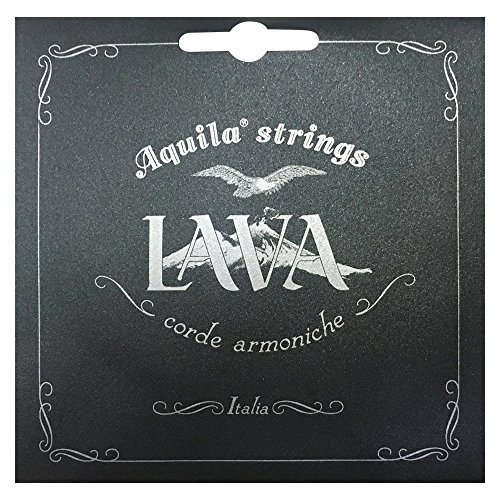 Aquila USA 112U High G Concert Ukulele Set - All Lava Nylgut - Material Pearlescent