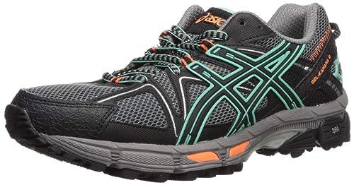 ee9a628b1d50 ASICS Women s Gel-Kahana 8 Trail Runner Aluminum Black Flash Yellow ...