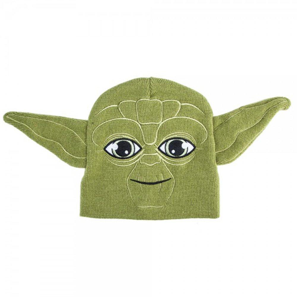 Star Wars Yoda Winter Beanie Hat Green Unisex Boys/Girls Winter Cap Disney 4-16