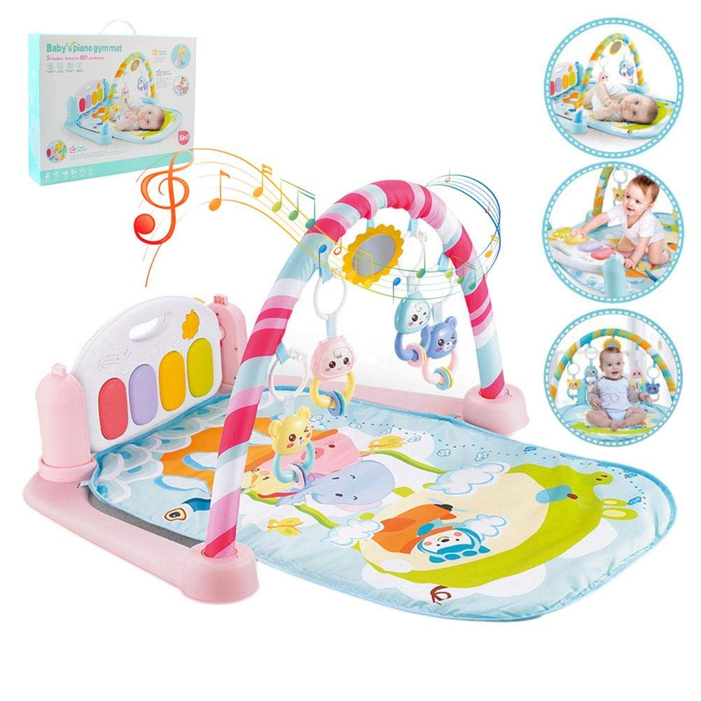 AITOCO Kick & Play Piano Gym Newborn Baby Gym Play Mat with Music and Sounds