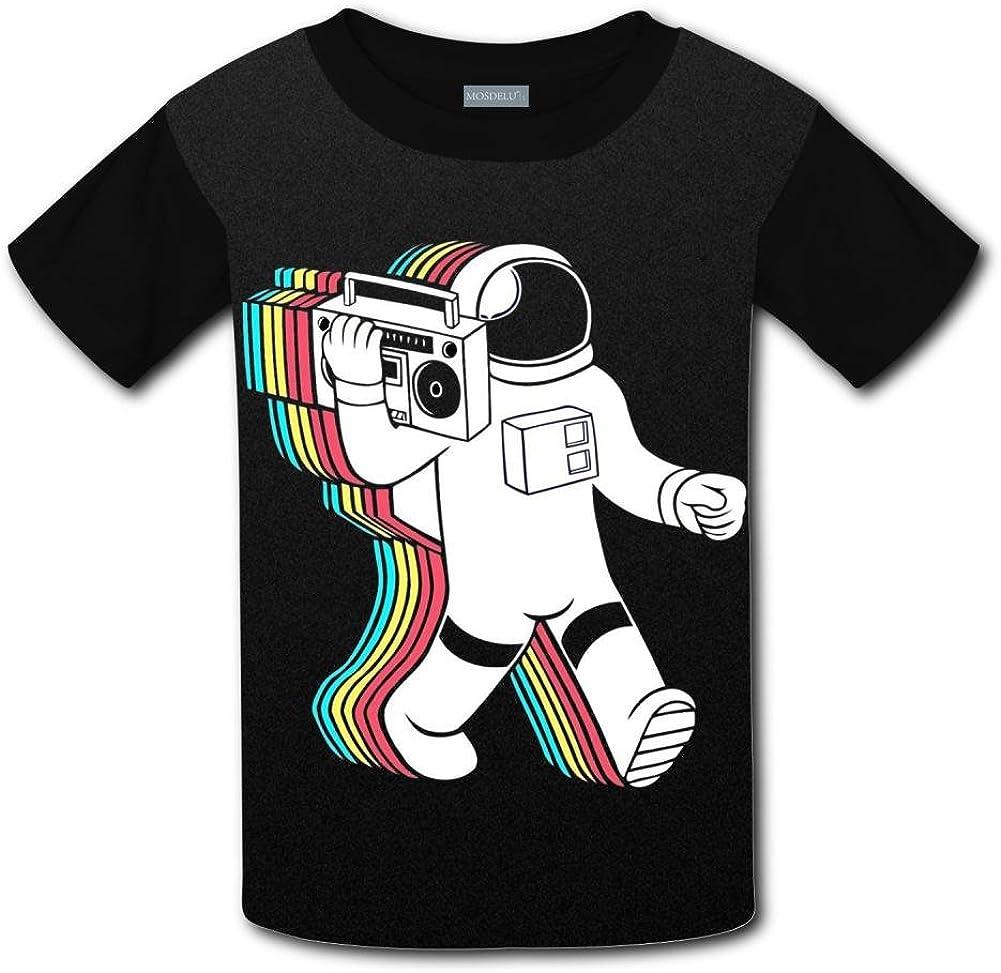 Shirt XiuHongShangMAo Unisex Kids Nolen Astronaut DJ Round Collar Short Sleeve T