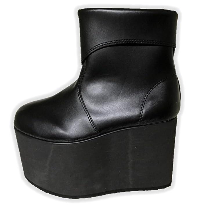 0e1ebd0378bd4 Black Monster Platform Boots Frankenstein Shoe Halloween Costume Accessory  SM-XL