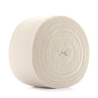 "White Knit Tubing//Stockinette 2/"" Flat x 10 Yards"