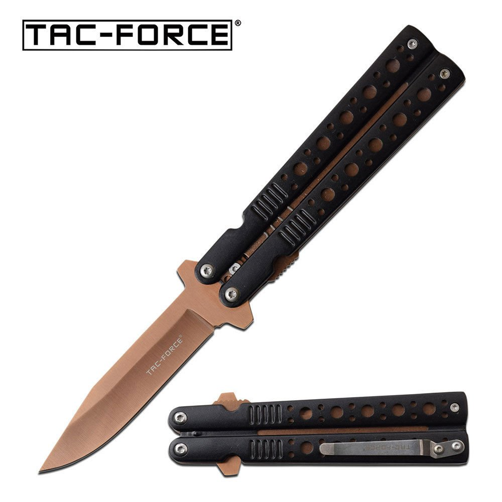 Tac Force Spring Assisted Bronze Blade Folding Aluminum Handle Pocket Knife + free eBook by OnlyUS