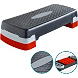 Denny International Aerobic Exercise Adjustable up to 2 Levels Stepper Yoga Fitness Gym Home Training Step