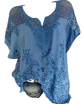 aba60e6de2ba8 Rolanscia Damen Elegante Blusen und Tuniken Hemd Bluse Sommer Blusenshirt  Festliche Shirts Kurzarm Leichte Hohl Oberteil