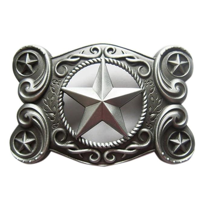 Western Star I Hebillas de cintur/ón Belt Buckle