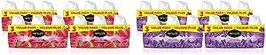 Renuzit Gel Air Freshener, Forever Raspberry, 12 Count and Renuzit Gel Air Freshener, Lovely Lavender, 12 Count