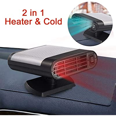 SONYANG Upgrade Car Heater, 2 in 1 Portable Fast Heating Car Heater with Heating & Cooling Function Defroster Defogger 12V 150W Demister Vehicle Heater Fan for Windshield (Gray): Car Electronics
