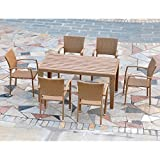 Cheap International Caravan Barcelona Resin Wicker Outdoor Patio Dining Set