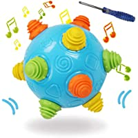 Toddlers Baby Music Shake Dancing Ball Toy, Move and Crawl Ball Toys for Kids,Bouncing Sensory Learning Ball Toys Ideal…