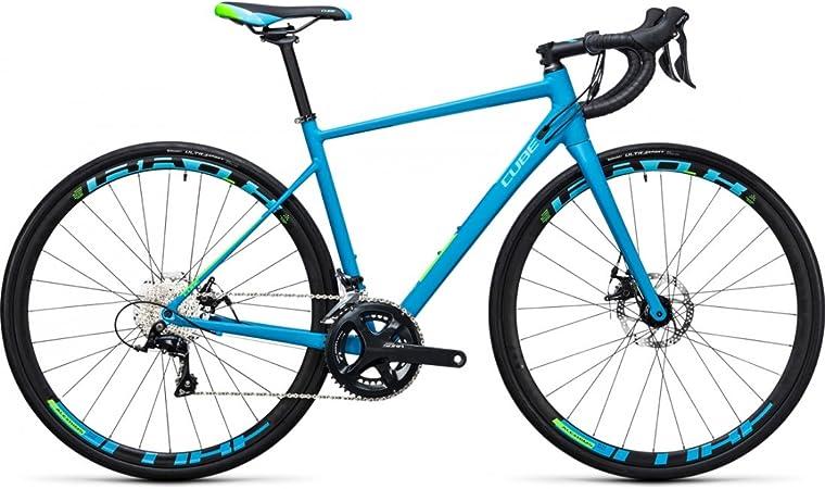 Bicicleta de carretera Cube Axial WLS Pro Disc reefblue N Green ...
