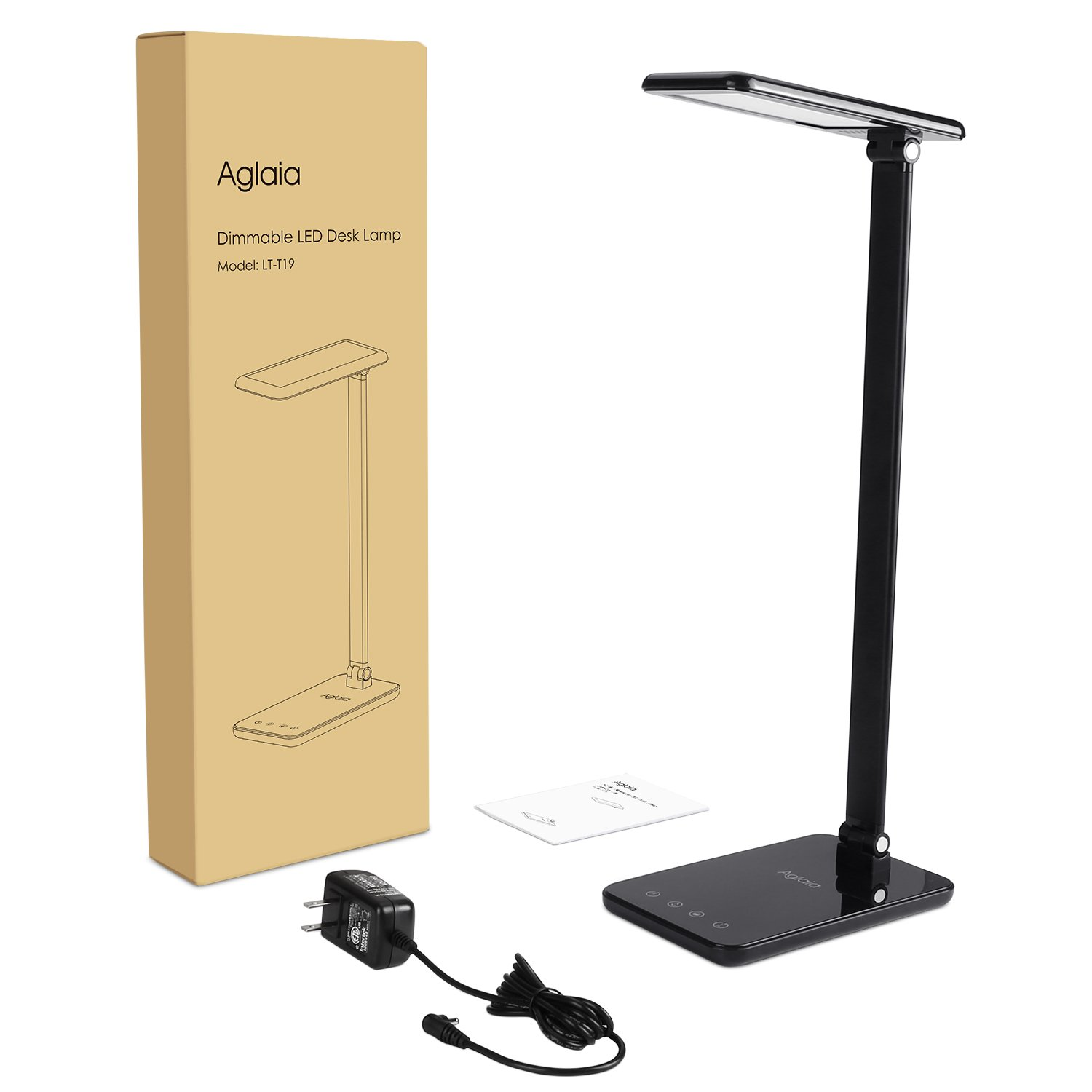 LED Desk Lamp 8W, Aglaia Eye-Caring Table Lamps with Dimmable Touch Control, Stepless Brightness Levels and Lighting Modes, Aluminum Alloy ARM, 1-Hour Auto Timer, Memory Function by Aglaia (Image #8)