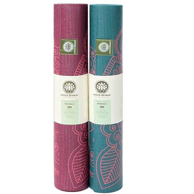 Lotus Design Eco de PVC Esterilla de Yoga con Mandala ...