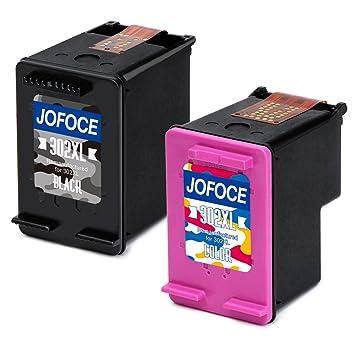 Jofoce Remanufacturado HP 302 302XL Cartuchos de tinta (1 Negro 1 tricolor),Compatible