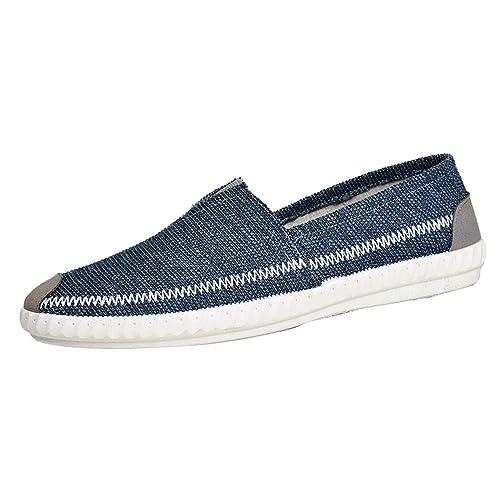 Zapatillas Deporte Hombres Sandalias Hombre Verano 2018 Zapatos De Lona De Lino De Paja para Hombres Zapatos Transpirables Ocasionales Pisos Cómodos Calzado ...