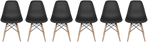Inspirer Studio Set of 6 New 17 inch SeatDepth Eames Style Side Chair