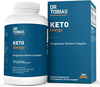 Dr Tobias Keto Energy Pills - 3,000mg of Exogenous Ketone Complex - 120 Count