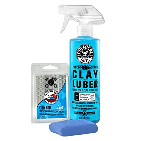 Chemical Guys CLY_109 Light Duty Clay Bar and Luber Synthetic Lubricant Kit  (16 oz) (2 Items)