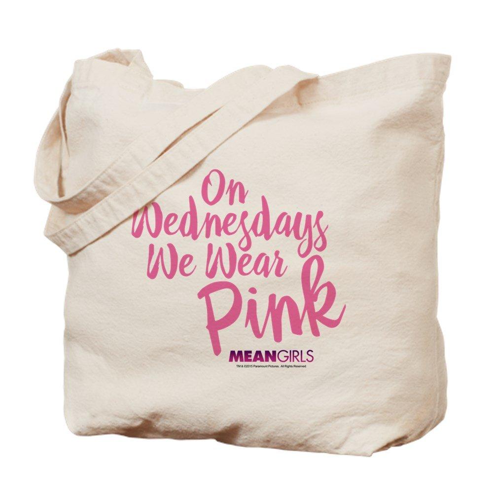 CafePress – Mean Girls – Wednesdays Wearピンク – ナチュラルキャンバストートバッグ、布ショッピングバッグ M ベージュ 16644027596893C B01BXSPKT8 MM
