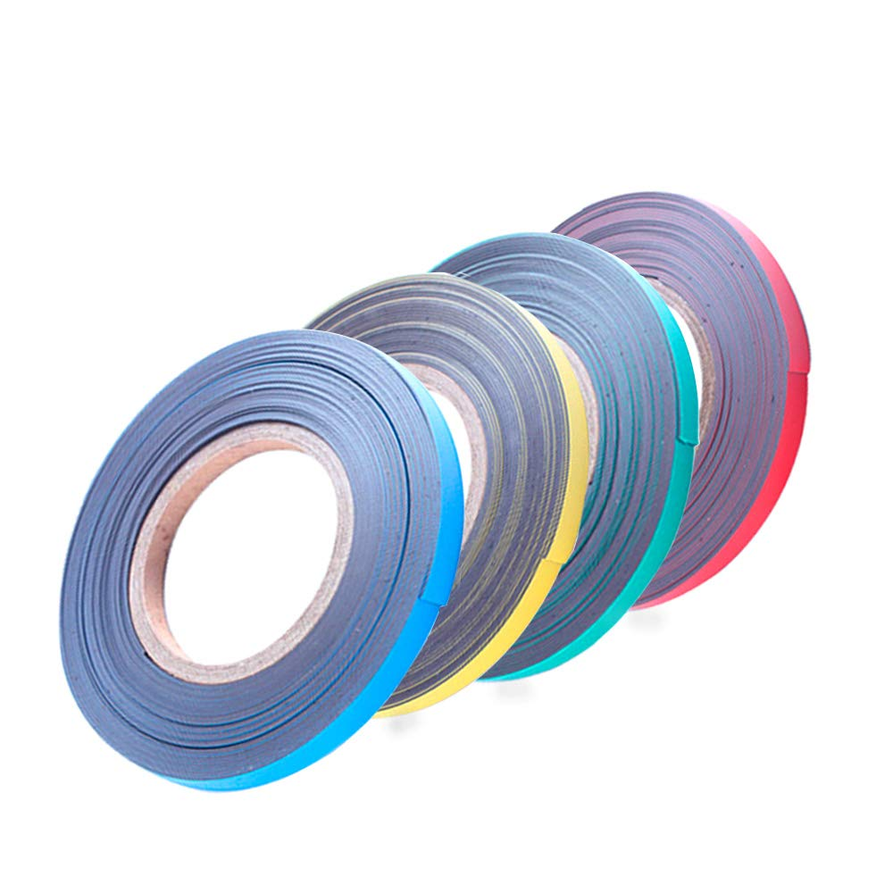 Magnetic Tape Roll Colored Thin Strips - Dry Erase Magnet Whiteboard Graphic Art Tape/ 10mm 33ft Marking Line Magnet Tape(4 Pack Mix Color) by easy-cozy