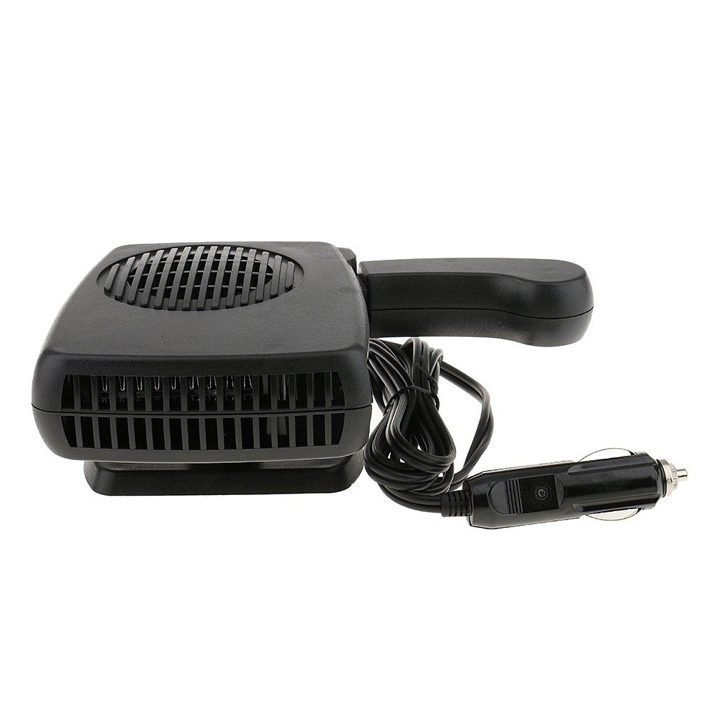 MagiDeal Calentador de Coche Fresco de 12V 150W con Ventilador Secador de Refrigeració n Desempañ ador de Negro