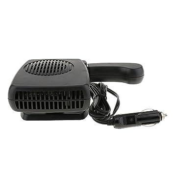 MagiDeal Calentador de Coche Fresco de 12V 150W con Ventilador Secador de Refrigeración Desempañador de Negro