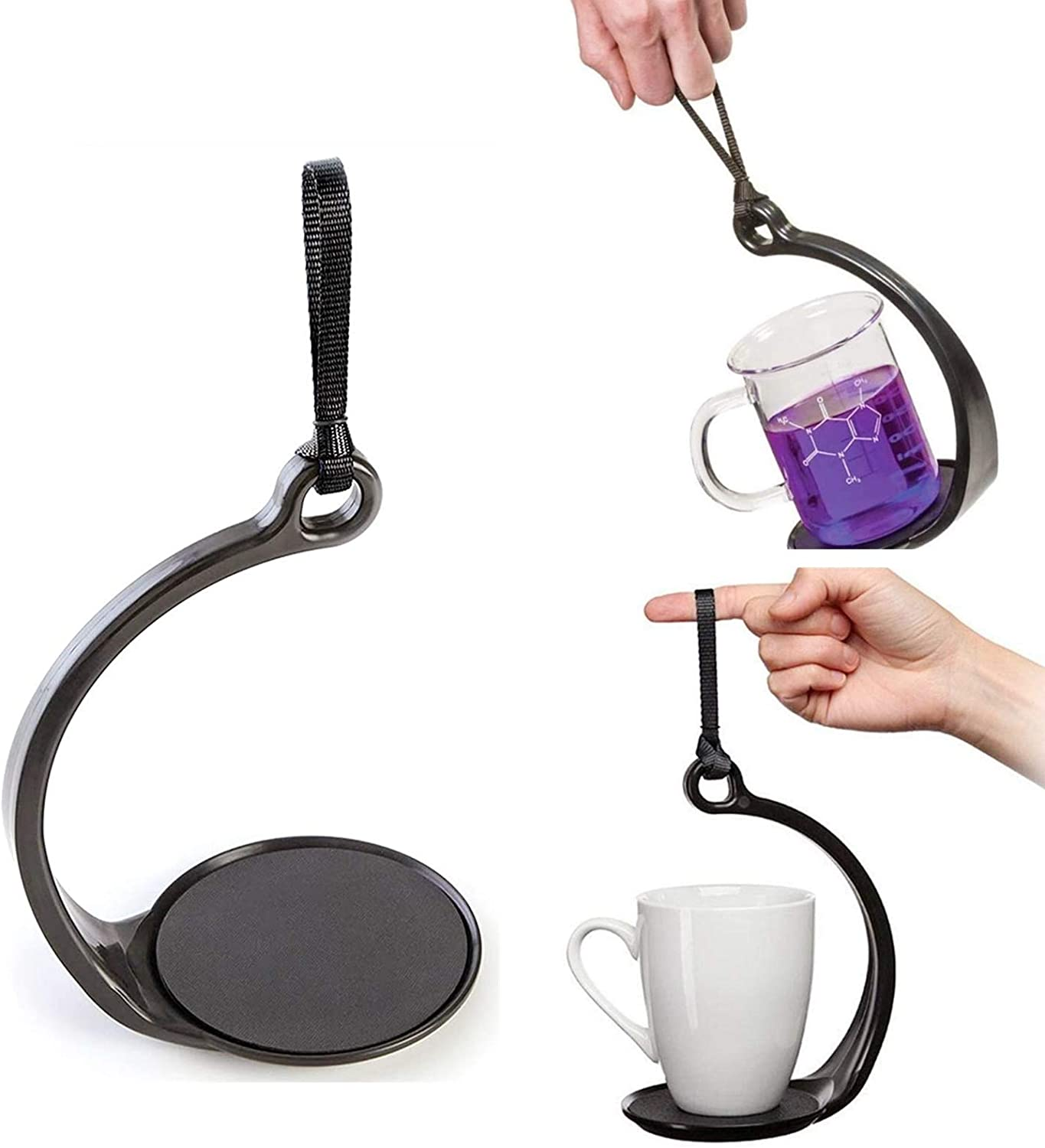 Spill Not Cup Carrier Anti-Spill No-Spill Mug Cup Holder for Hot Cold Drinks Tea Coffee Lovers