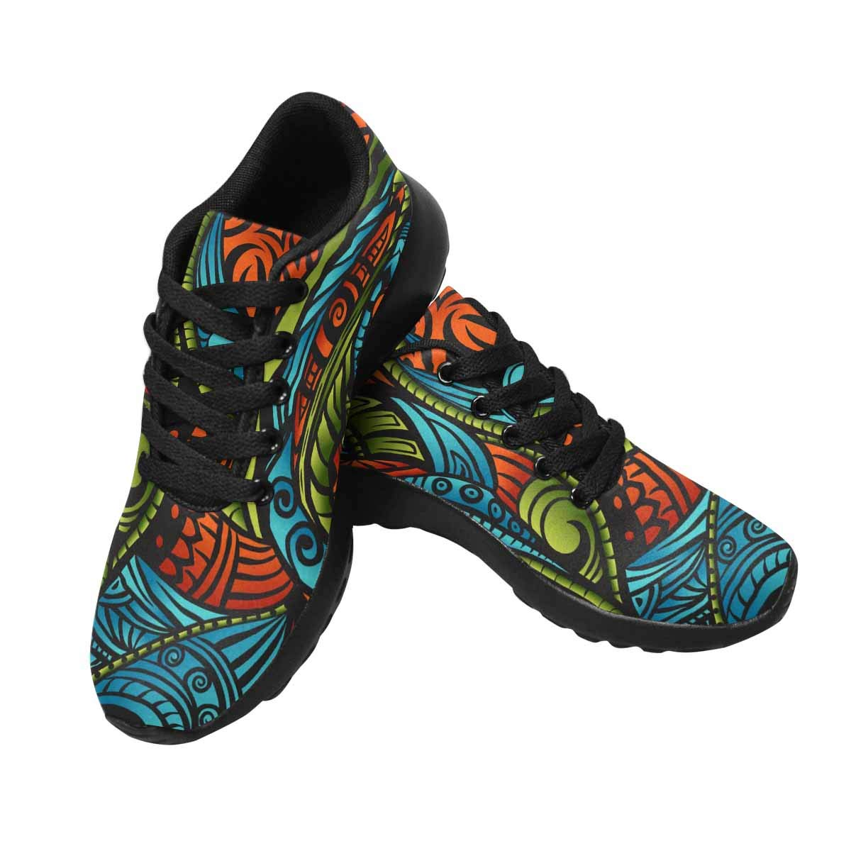 InterestPrint Women's Casual Walking Shoes Sports Running Sneakers Athletic Sneakers US8 Ethnic Style