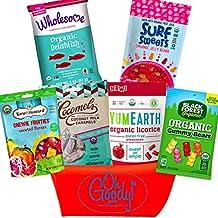 Organic Candy Gift Basket. Gluten Free Snack Set.