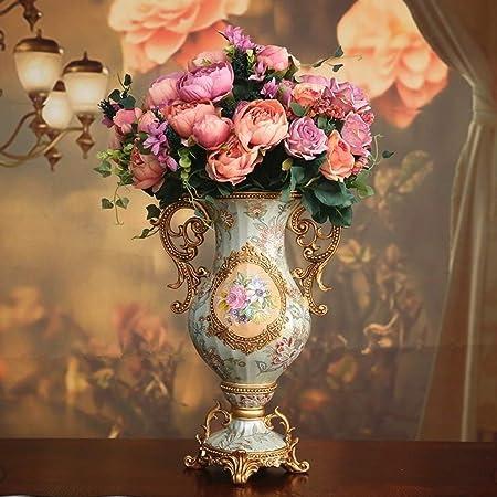 Vases Jarrones de Mesa Centro de Mesa para Dormitorio, Oficina ...