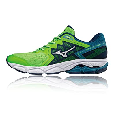 ae570886f38a Mizuno Wave Ultima 10, Sneakers Basses Homme, Multicolore  (Greeng/Silv/Bluesapp