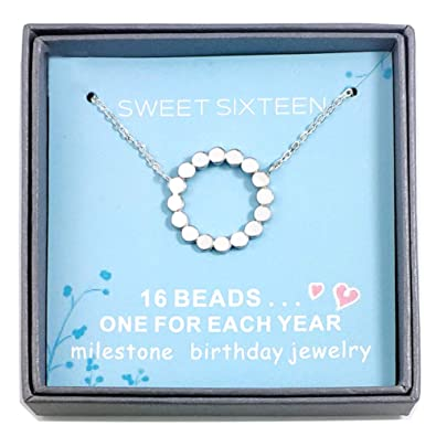 Amelery 16 Years Old Birthday Gifts For Her Necklace Gift Women Best Friend Or