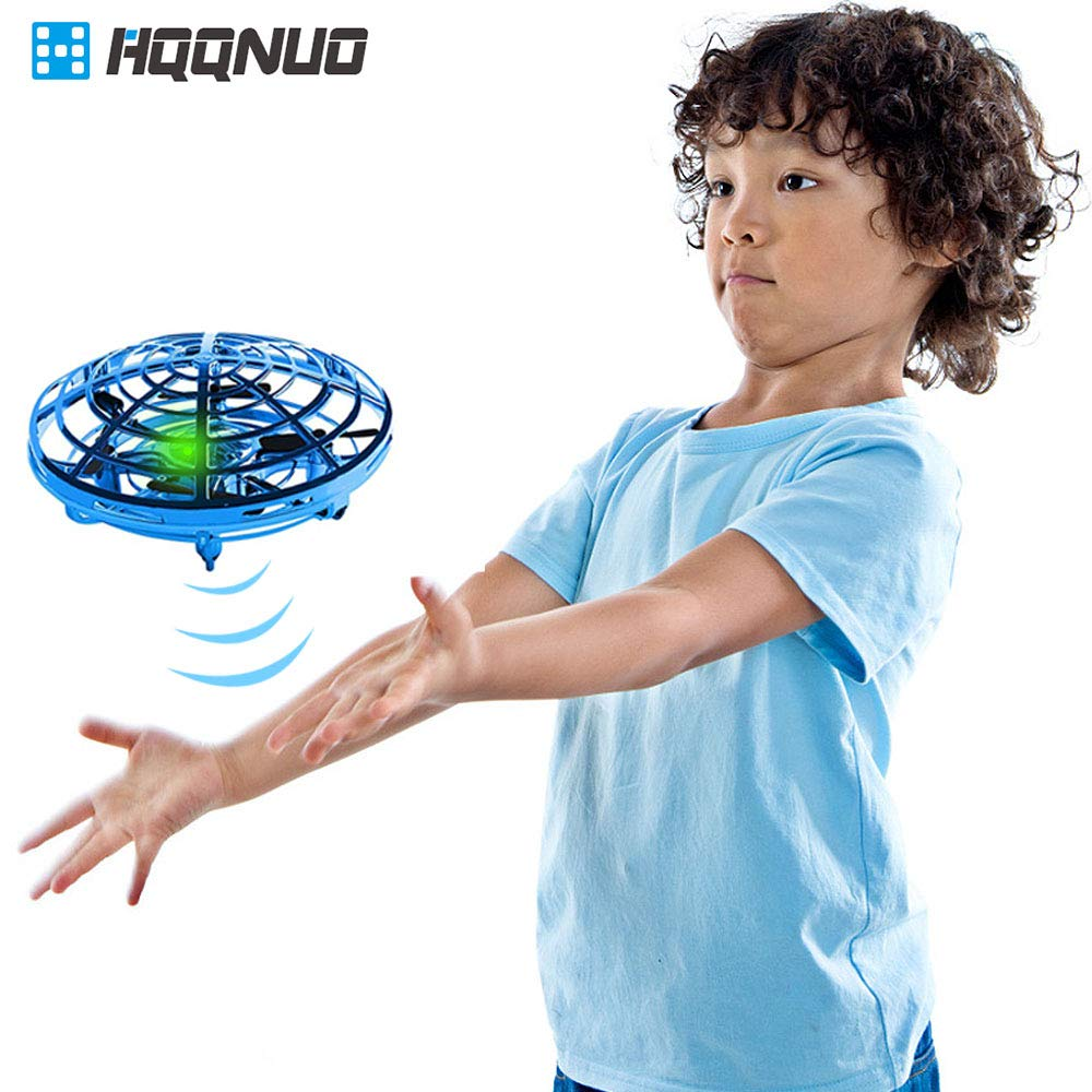 HQQNUO Drones for Kids or Adults Flying Ball Drone Quadcopter Flying Toys Interactive Infrared Induction Helicopter Ball with 360°Rotating for Helicopter Mini Drone Flying Toys for Boys or Girls by HQQNUO