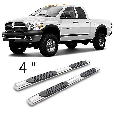 "4/"" Oval Nerf Bars Side Step For 03-09 Dodge Ram 2500 3500 Quad Cab Running Board"