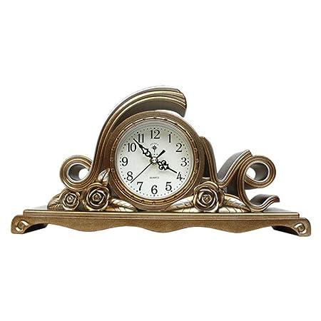 Reloj Europeo Gran Reloj Retro Mudo Despertador de cabecera Reloj ...