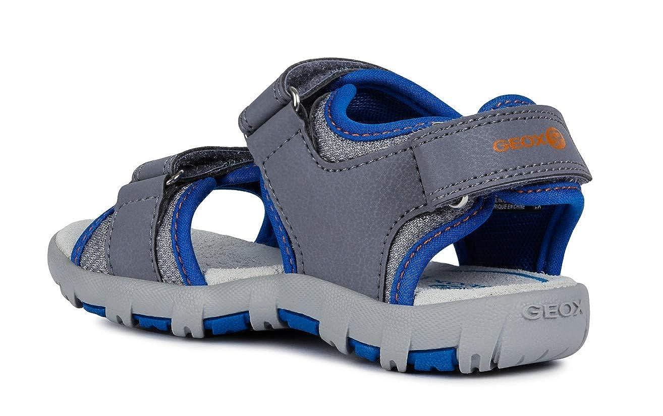 Geox Sandal Pianeta J9264A Mixte Enfant Sandales,Sandales de Trekking,Fille,Garcon Sandale dext/érieur,Sandale de Sport,Pont ext/érieur,Triple Velcro