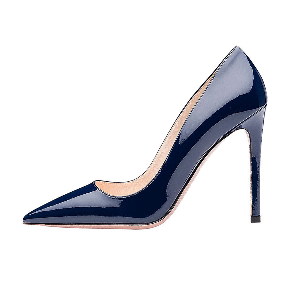 SexyPrey Women's Pointy Toe Stiletto Shoes Formal Office Evening Pumps B074M3YTXJ 9 B(M) US|Navy